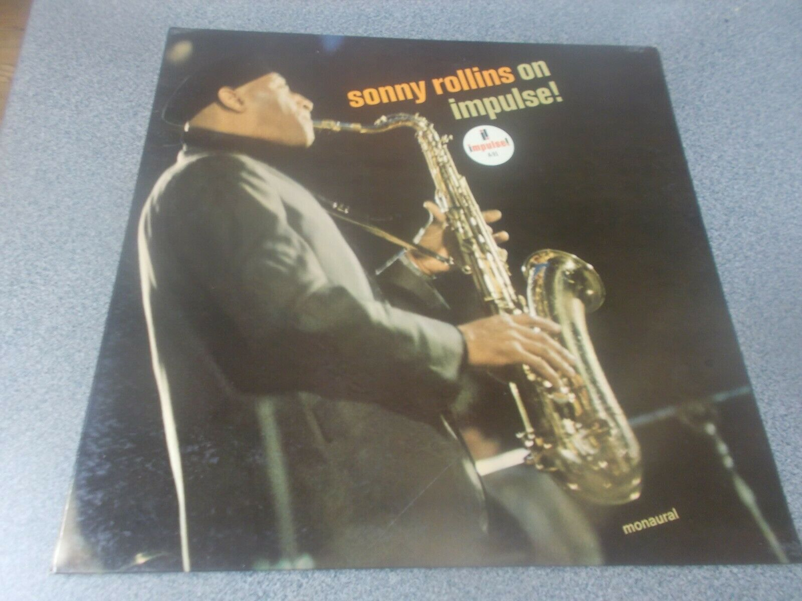 Sonny Rollins On Impulse  beautiful white label promo monaural Van Gelder