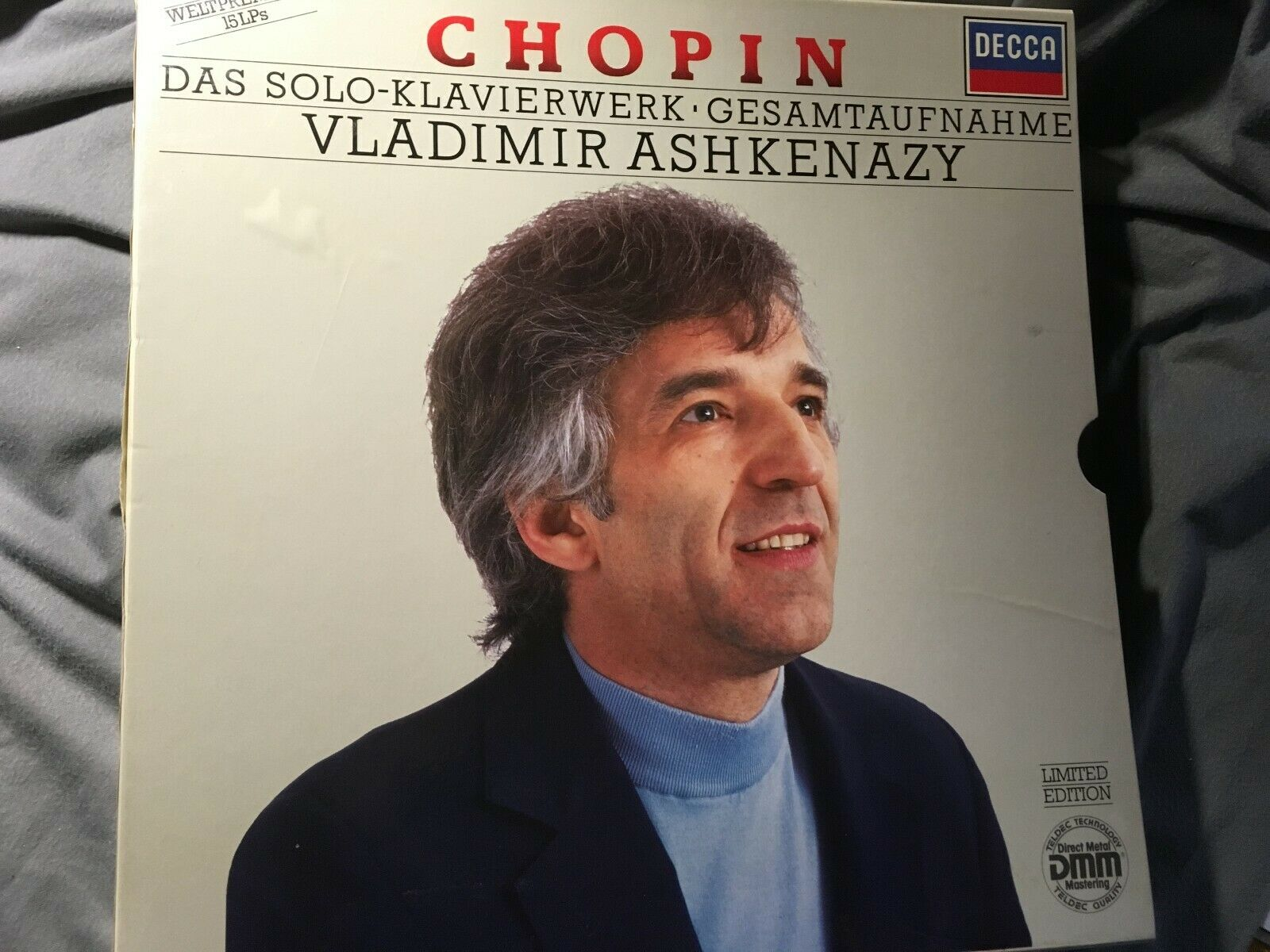 CHOPIN PIANO WORK SOLO VLADIMIR ASHKENAZY complete 15 x LP DECCA STEREO DMM top
