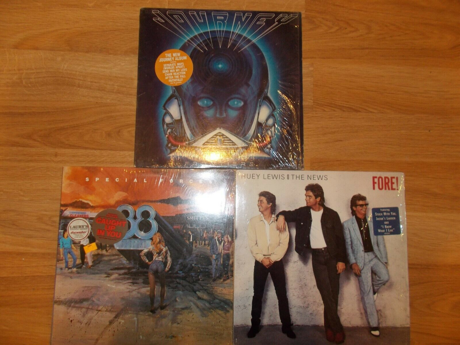 Journey Frontiers, 38 Special Special forces, and Huey Lewis Fore  LP Vinyl