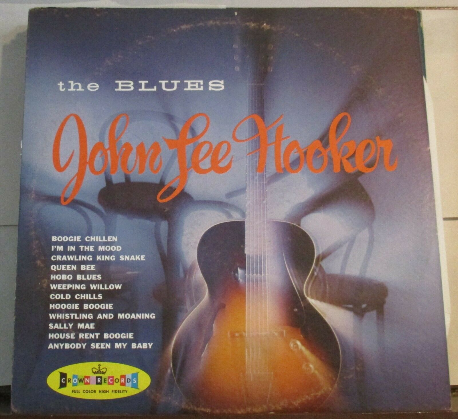 "John Lee Hooker ""The Blues"" Crown 5157 12"" Lp"