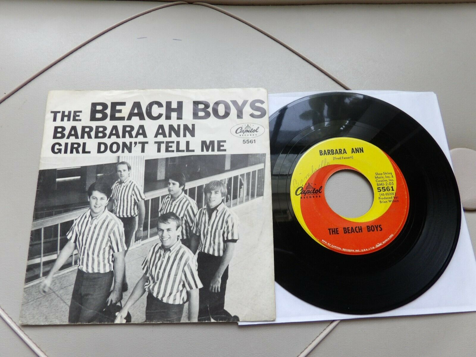 "The Beach Boys 7"" 45 & PS Barbara Ann CAPITOL 5561 1965"