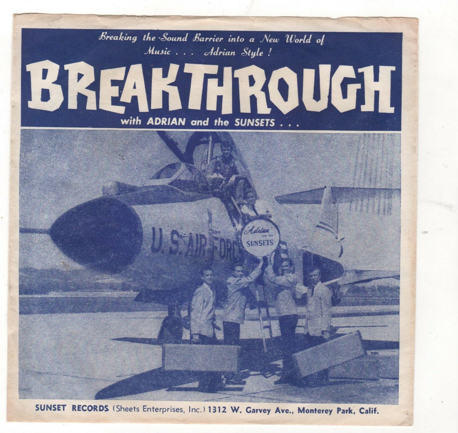 SURF-ADRIAN AND THE SUNSETS-SUNSET 602-BREAKTHROUGH/CHERRY PIE
