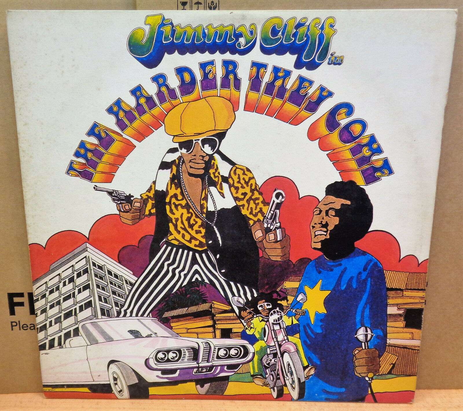 RARE TEST PRESS  JIMMY CLIFF THE HARDER THEY COME UK ISLAND LP ILPS9202 A1U/B2U