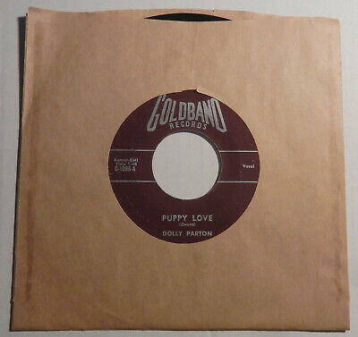 DOLLY PARTON Puppy Love/ Girl Left Alone 45 ORIG GOLDBAND 1086 Rockabilly RARE ?