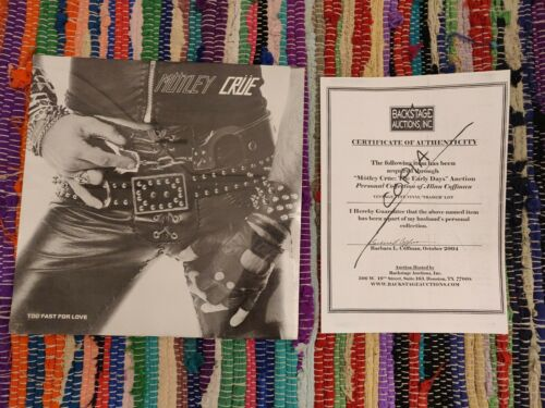 Motley crue Too Fast For Love Leathur Sealed with COA