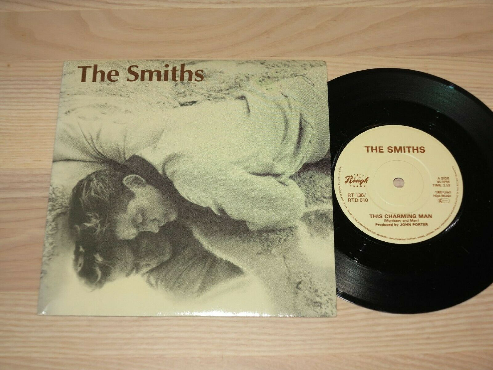 "THE SMITHS 7"" SINGLE - THIS CHARMING MAN / RT 136 RTD 010 NO PUSH OUT in MINT"