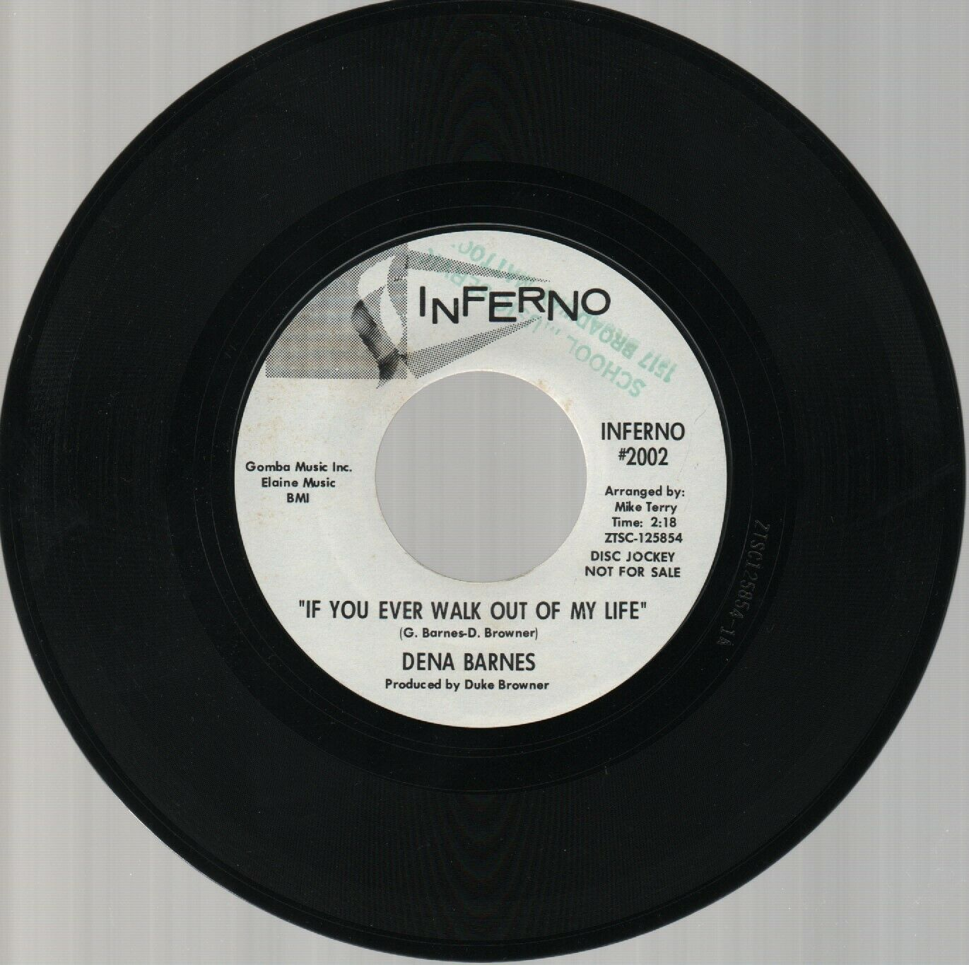 "DENA BARNES Northern Soul 7"" Promo 45 IF YOU EVER WALK OUT OF MY LIFE / WHO AM I"