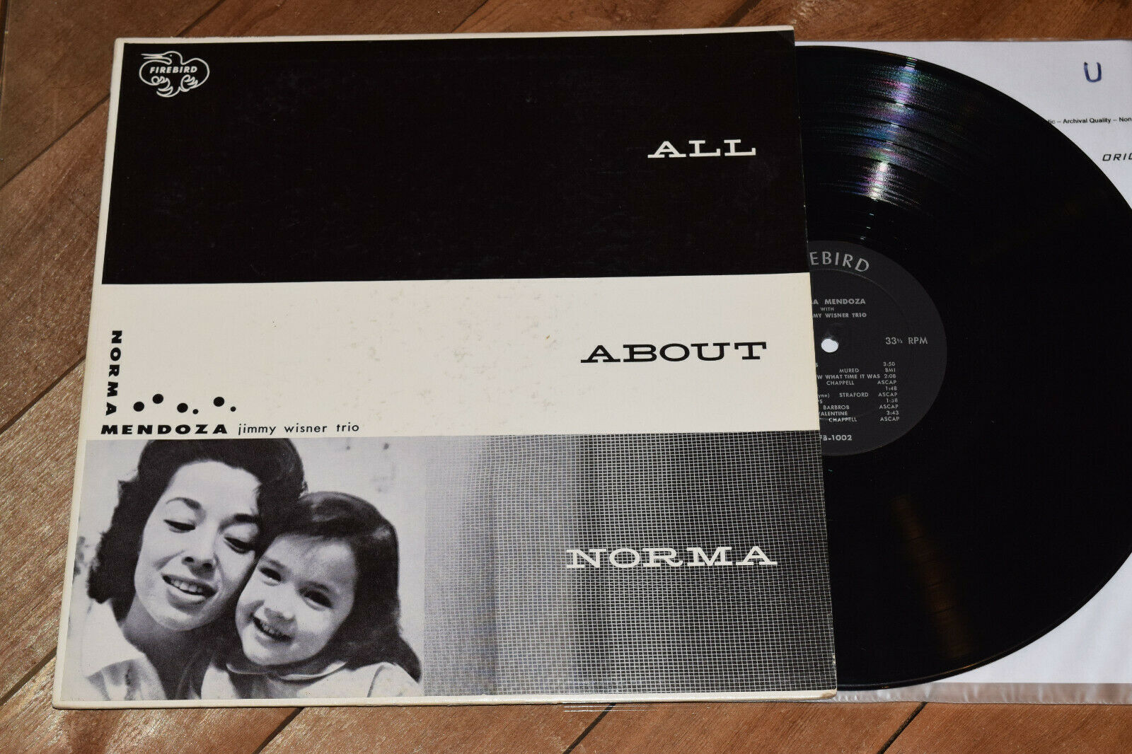 Norma Mendoza  All About EX Autographed DG Jimmy Wisner Firebird lp female vocal
