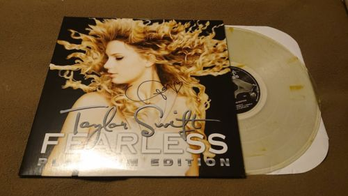 New Taylor Swift Fearless Platinum Edition Signed LP Gold Vinyl Record Store Day
