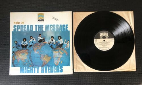THE MIGHTY RYEDERS, HELP US SPREAD THE MEASSAGE, 1st ISSUE, SUN GLO PROMO 1978