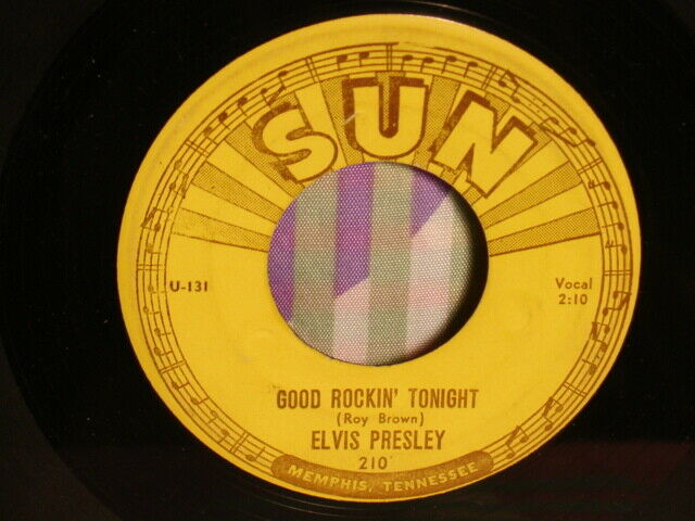 ROCKABILLY- ELVIS PRESLEY-SUN 210-GOOD ROCKIN TONIGHT-RARE PRESS-NO SCOTTY +BILL