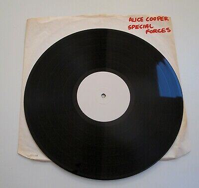 ALICE COOPER - SPECIAL FORCES LP VINYL Rare UK White Label Test Pressing Album