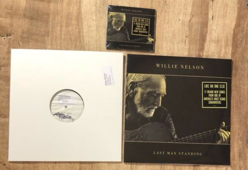 Willie Nelson Autograph - Signed Test Pressing - Last Man Standing - Vinyl
