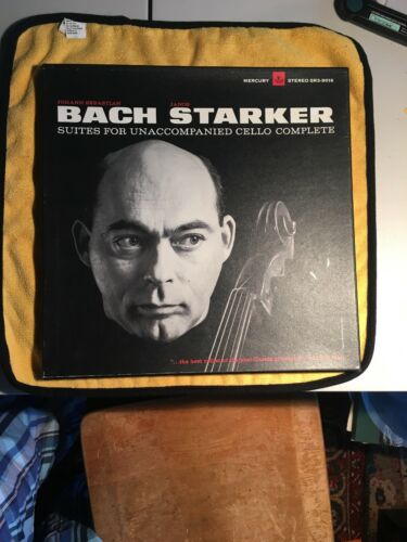 3 LP Bach JANOS STARKER Solo Cello Suites SR3-9016 RARE GOLD Lable PROMO Mint