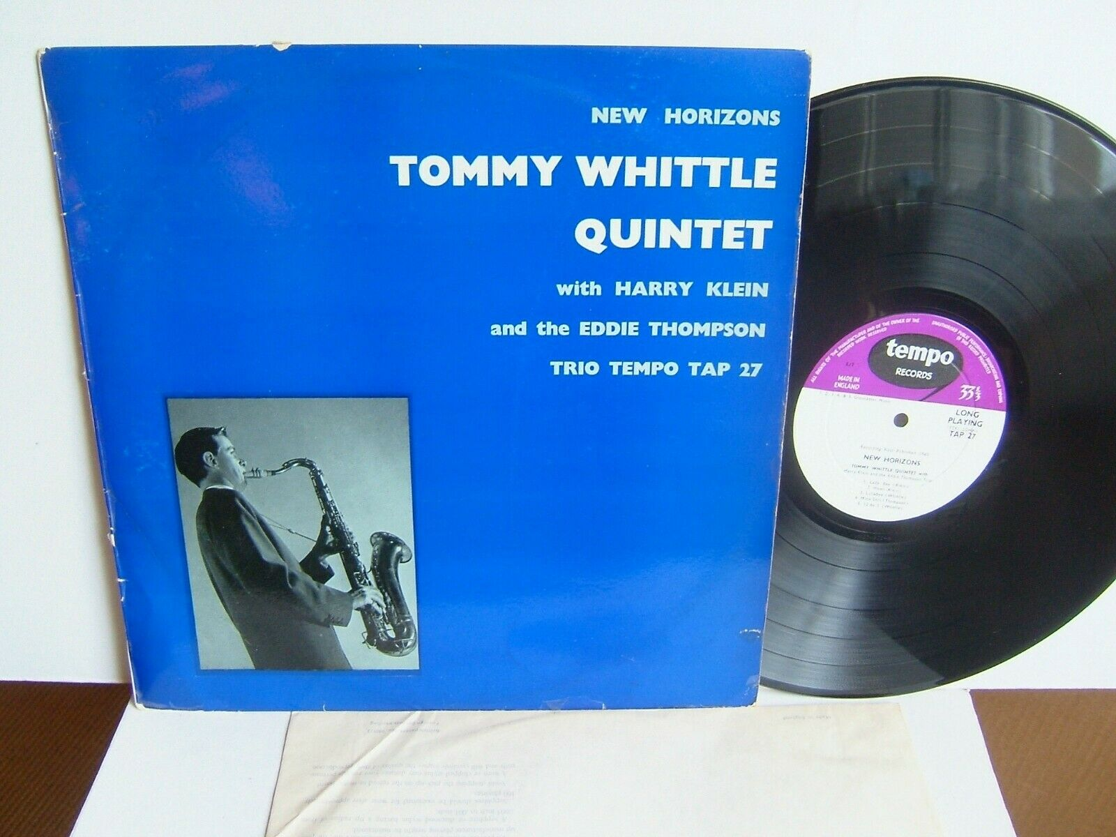 Tommy Whittle Quintet - New Horizons TAP 27 UK LP 1st Press 1960 Tempo  EX+