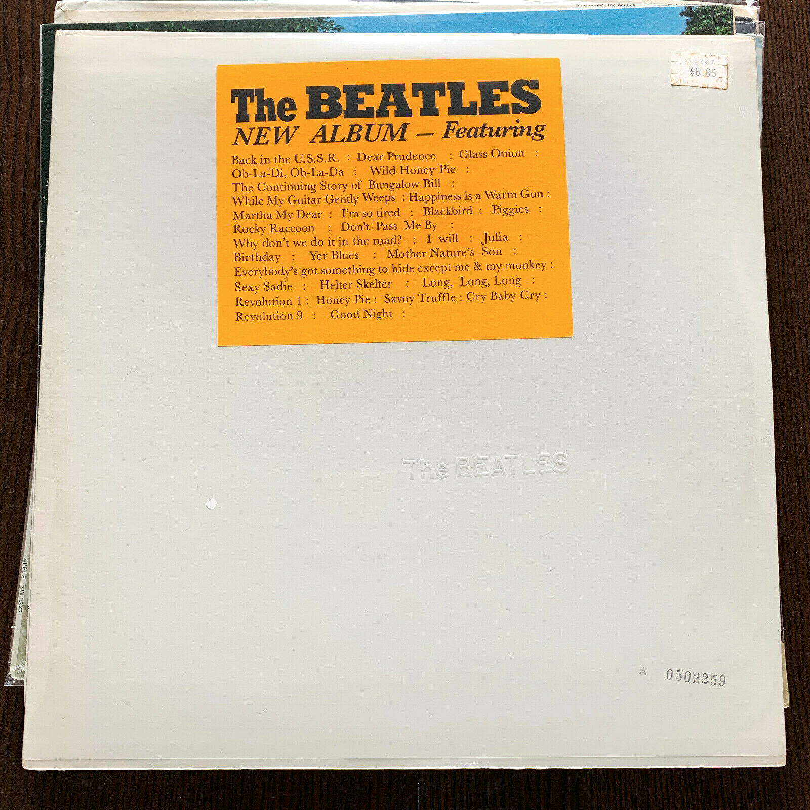 THE BEATLES THE BEATLES (WHITE ALBUM) US APPLE 1968 1ST PRESS 2LP STICKER SEALED