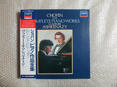 15LP VLADIMIR ASHKENAZY CHOPIN COMPLETE PIANO WORKS JAPAN STEREO