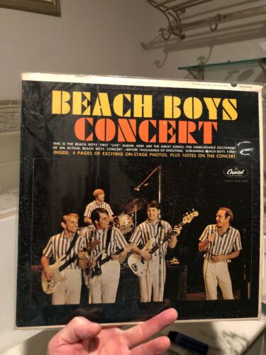 Beach boys concert LP with booklet and concert booklet signed by beach boys-RA