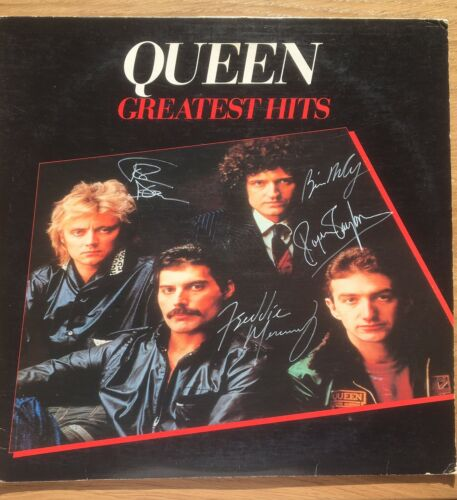 Queens Greatest Hits Vinyl Signed By ALL Queen Inc COA