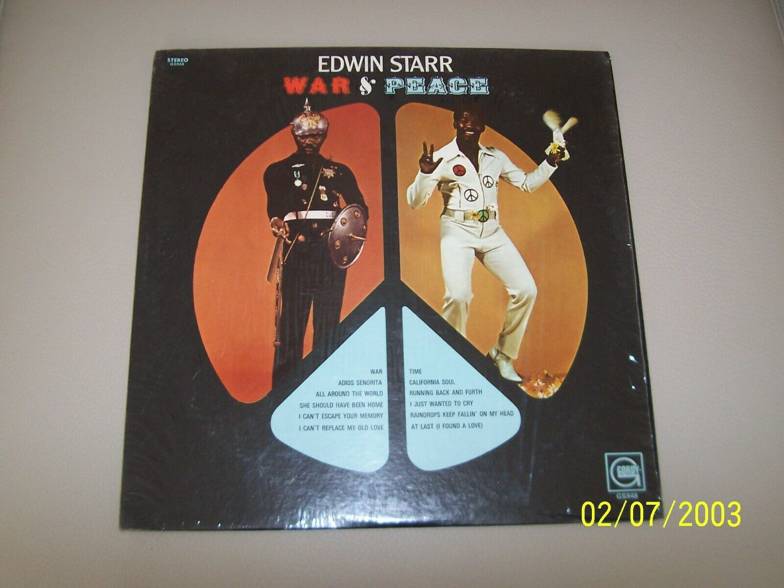 "Edwin Starr ""War and Peace"" LP GORDY (GLPS-948) Original 1970, Vinyl/Cover NM+"