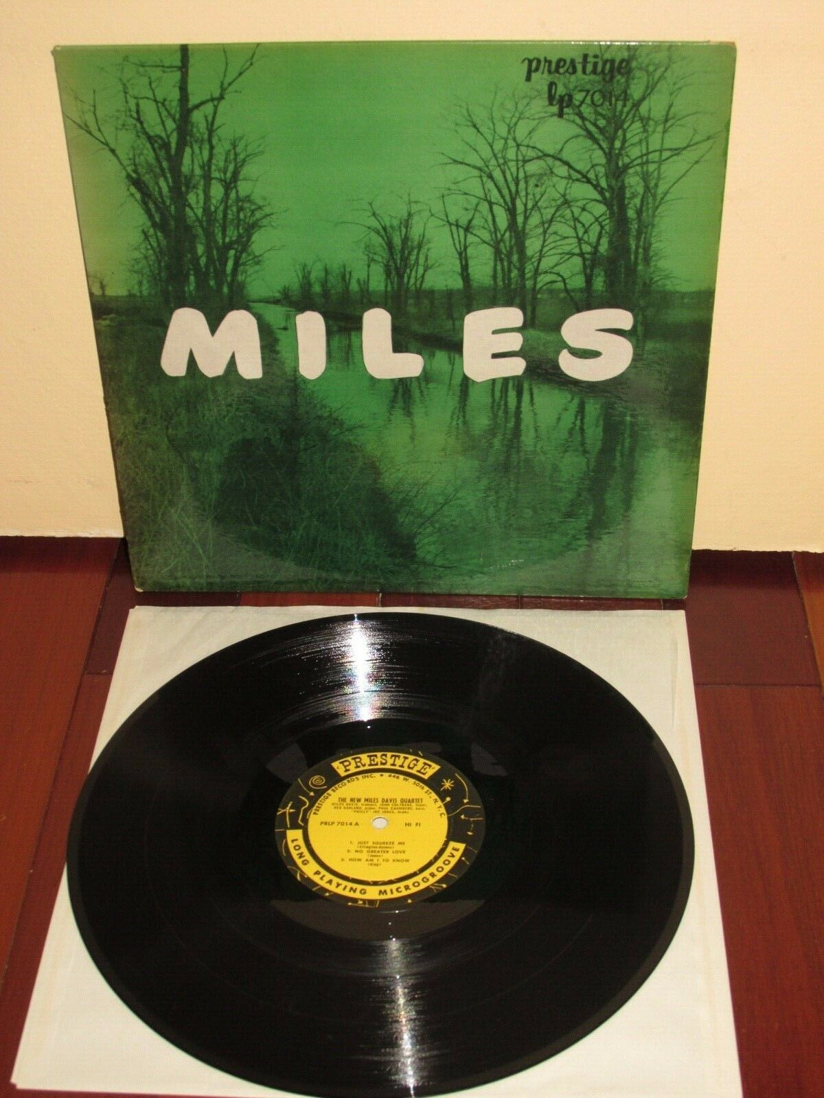 """THE NEW MILES DAVIS QUINTET"" Prestige 7014 RARE Flat Edge 1st (1956) W. 50th EX"