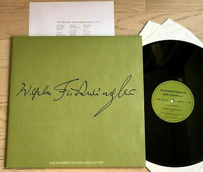 FURTWANGLER SOCIETY 9.Symphony BEETHOVEN Live 1953 PRIVATE PRESS 2LP MINT