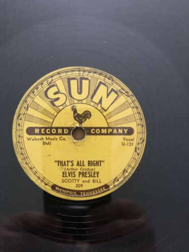 Elvis Presley Sun 78s Original  Set Of 4