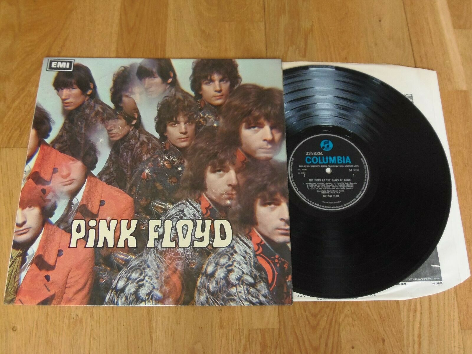 PINK FLOYD PIPER AT THE GATES OF DAWN 2/1 Blue Columbia MONO *Stunning* AUDIO