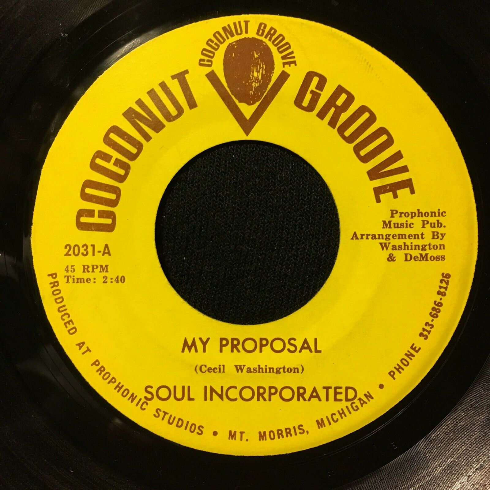 Soul Incorporated - My Proposal ORIGINAL PRESSING Coconut Groove Rare Soul