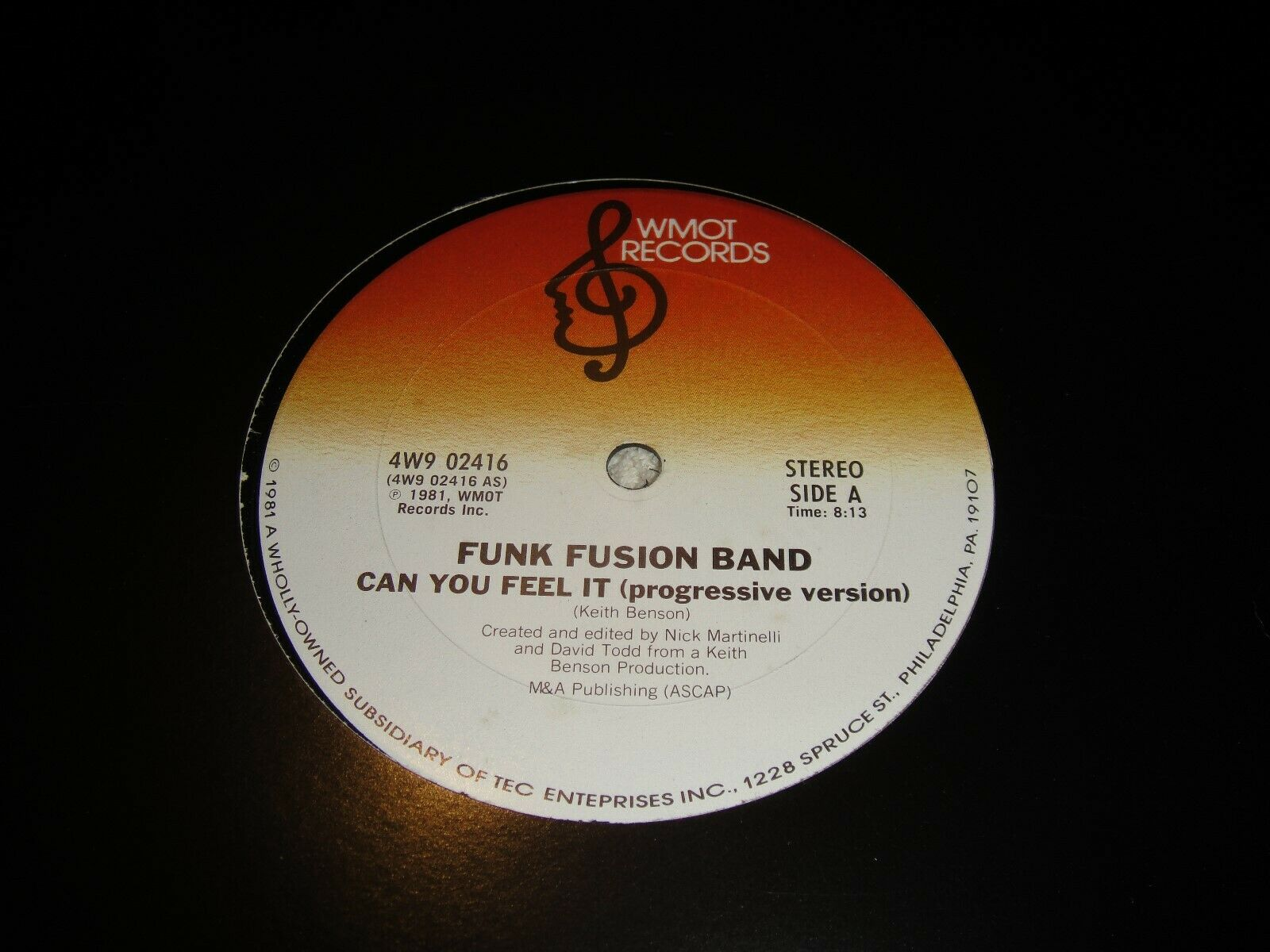 FUNK FUSION BAND - CAN YOU FEEL IT ,U S 12 INCH COPY ,GREAT SOUGHT AFTER COPY