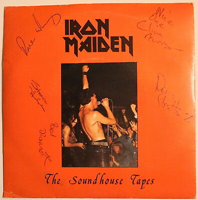 """Iron Maiden """"The Soundhouse Tapes"""" Original 7"""" Single Signed"""