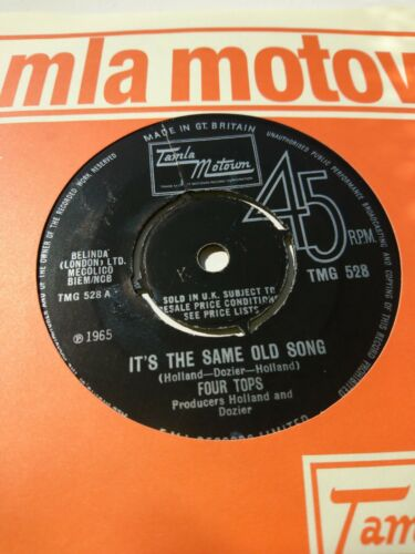 """Four Tops IT'S THE SAME OLD SONG ORIGINAL 7"""" 45 TAMLA MOTOWN NORTHERN SOUL"""