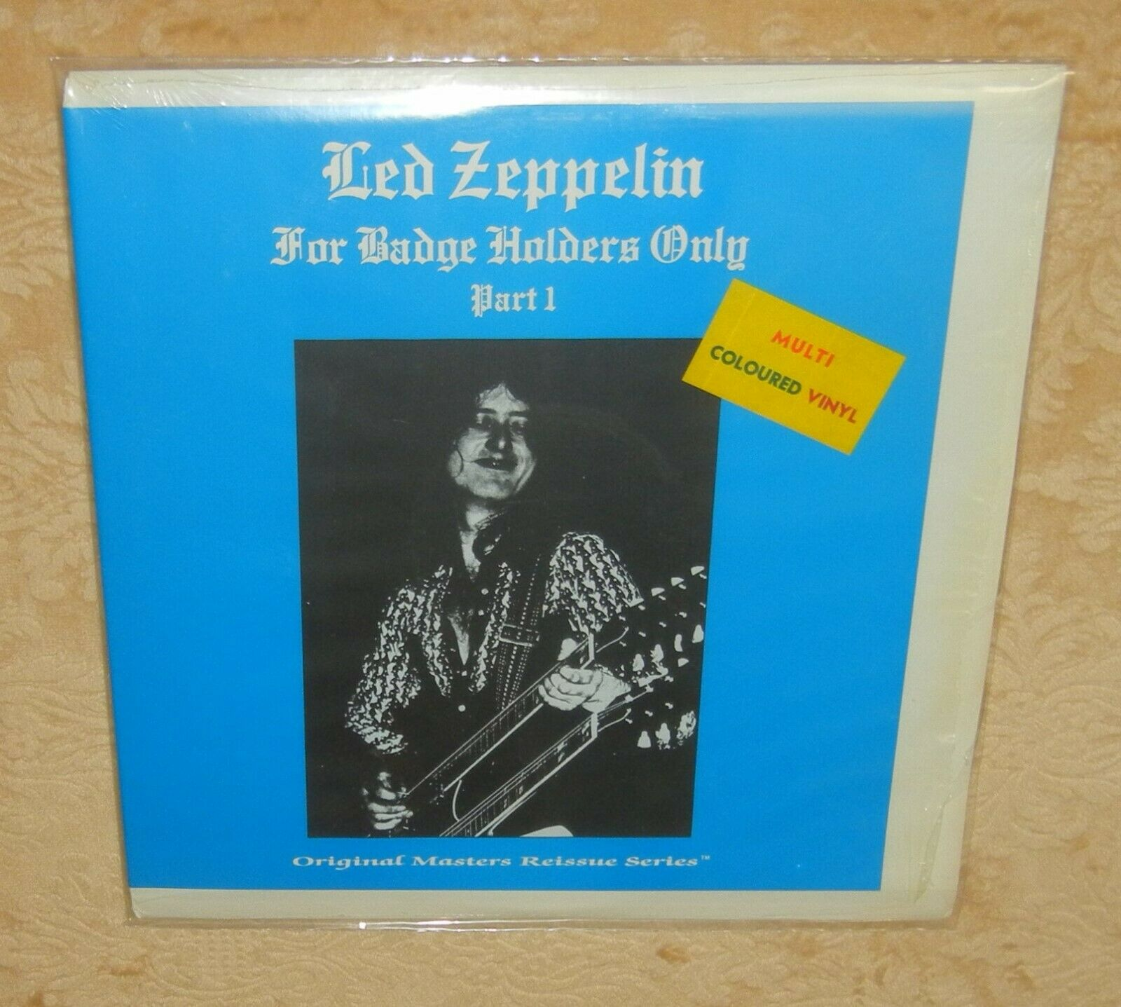 LED ZEPPELIN  FOR BADGE HOLDERS ONLY PART 1  MULTI COLORED VINYL  READ BELOW