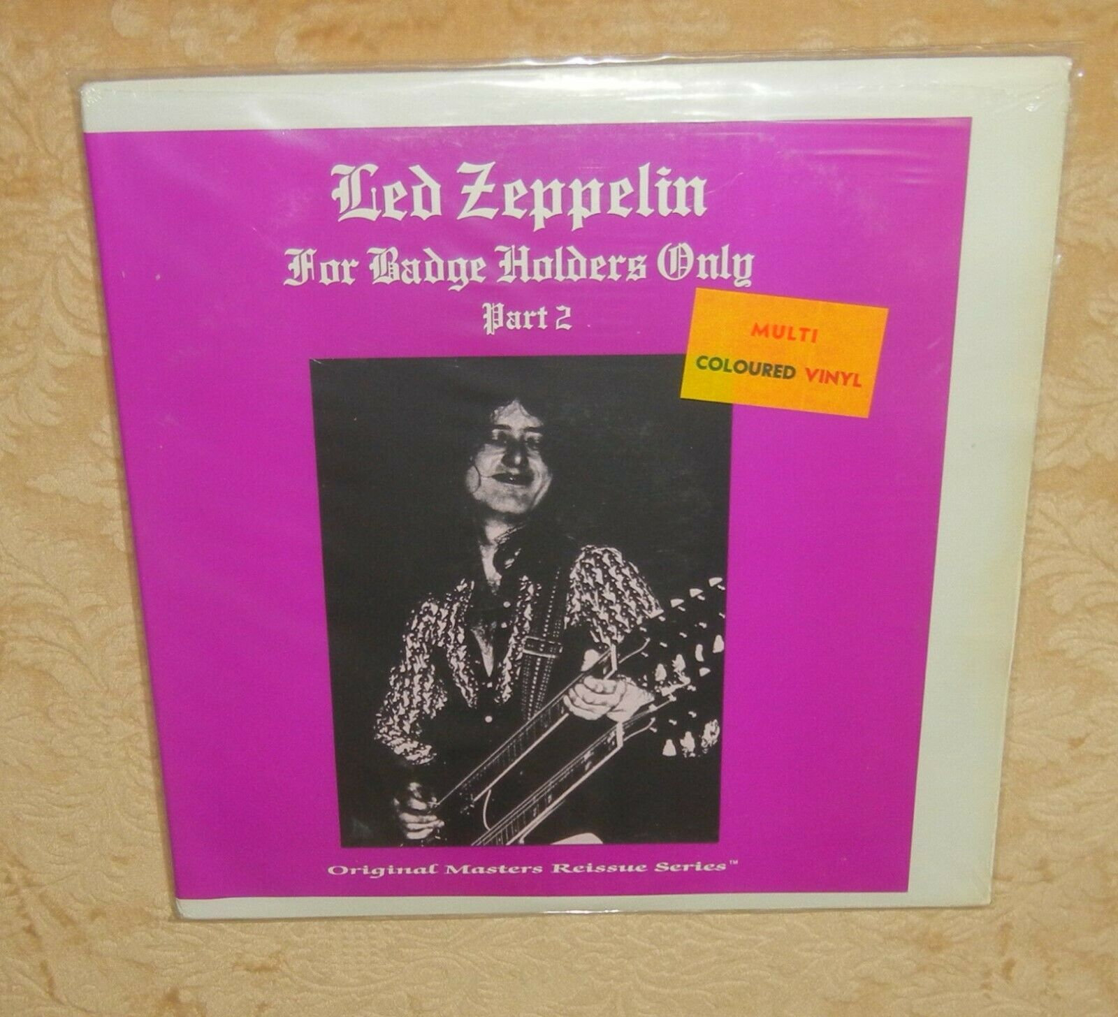 LED ZEPPELIN  FOR BADGE HOLDERS ONLY PART 2  DOUBLE ON MULTI  COLORED VINYL