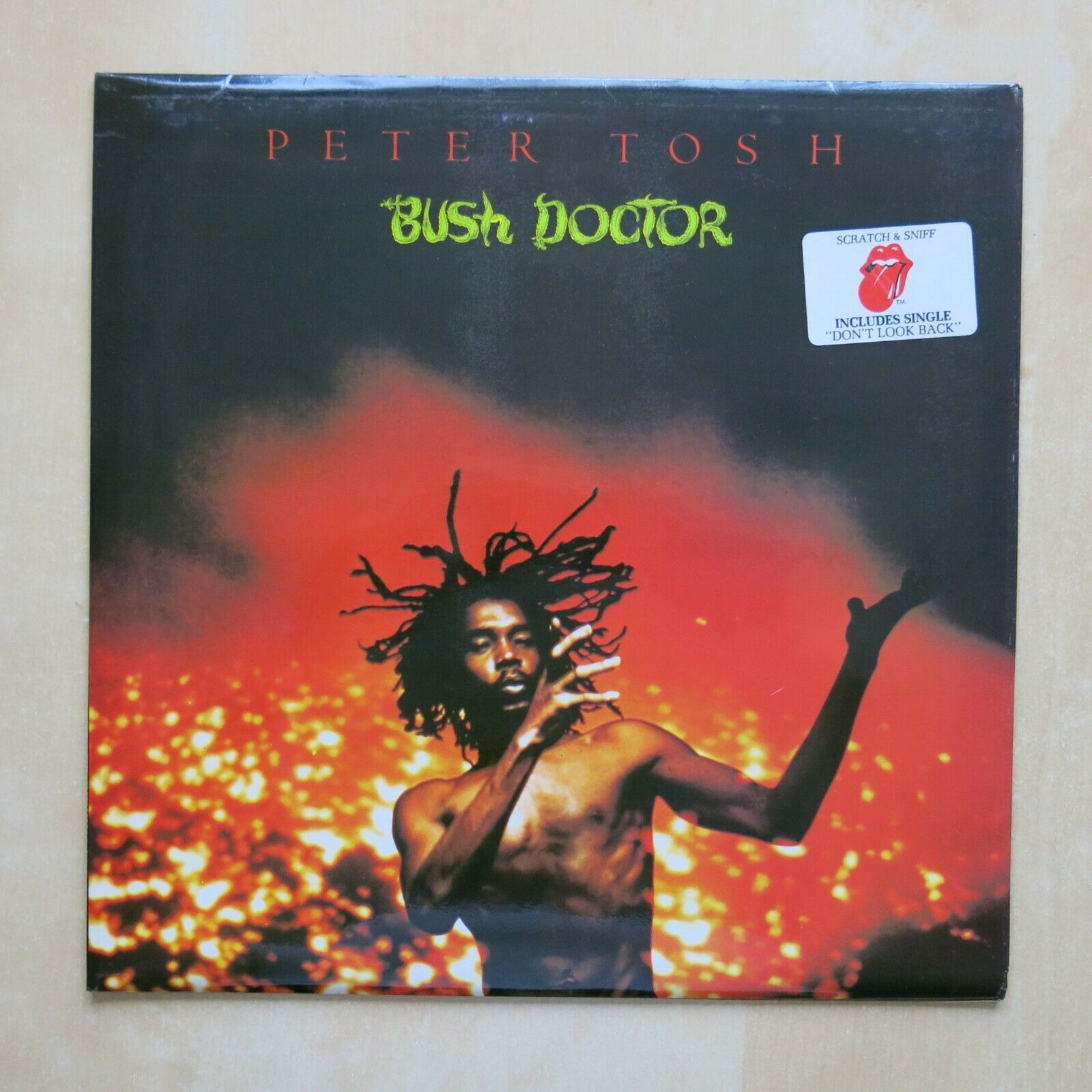 PETER TOSH Bush Doctor UK vinyl LP with sticker and inner sleeve Rolling Stones