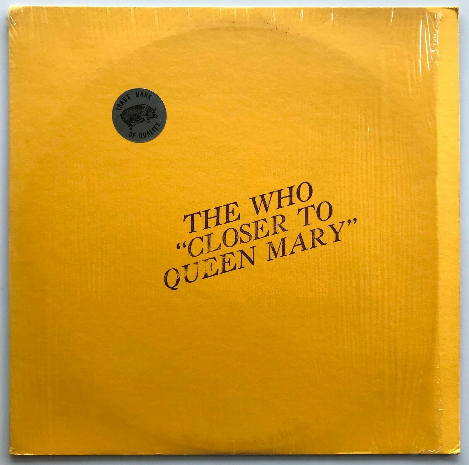 THE WHO Closer To Queen Mary LP Original Red Vinyl TMOQ