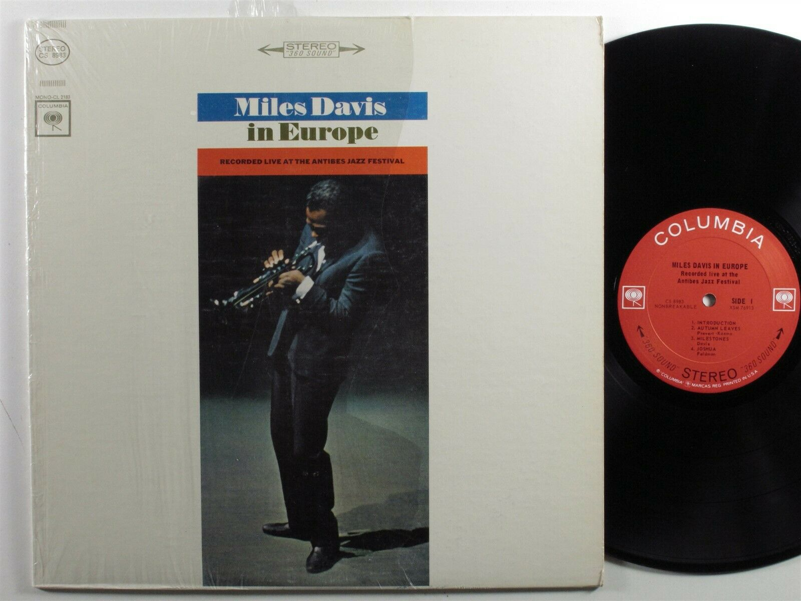 MILES DAVIS In Europe COLUMBIA LP VG+/VG++ 2-eye stereo SHRINK