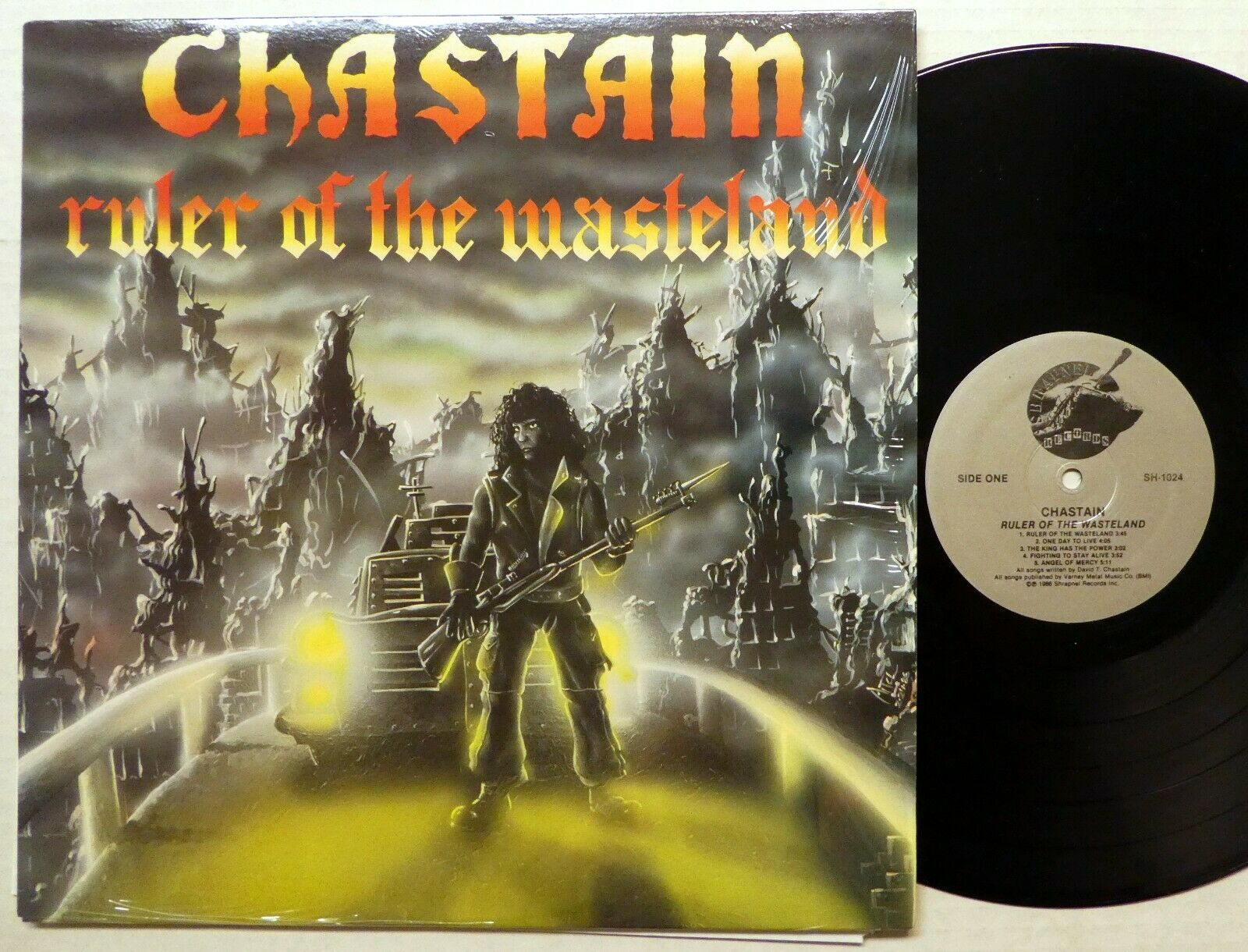 CHASTAIN Ruler of Wasteland LP MINT- Shrapnel Usa 1986 Heavy Metal Rp626