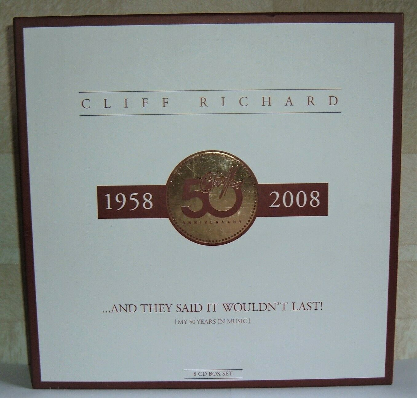Cliff Richard 50th Anniversary Box Set And They Said It Wouldn't Last. MINT.