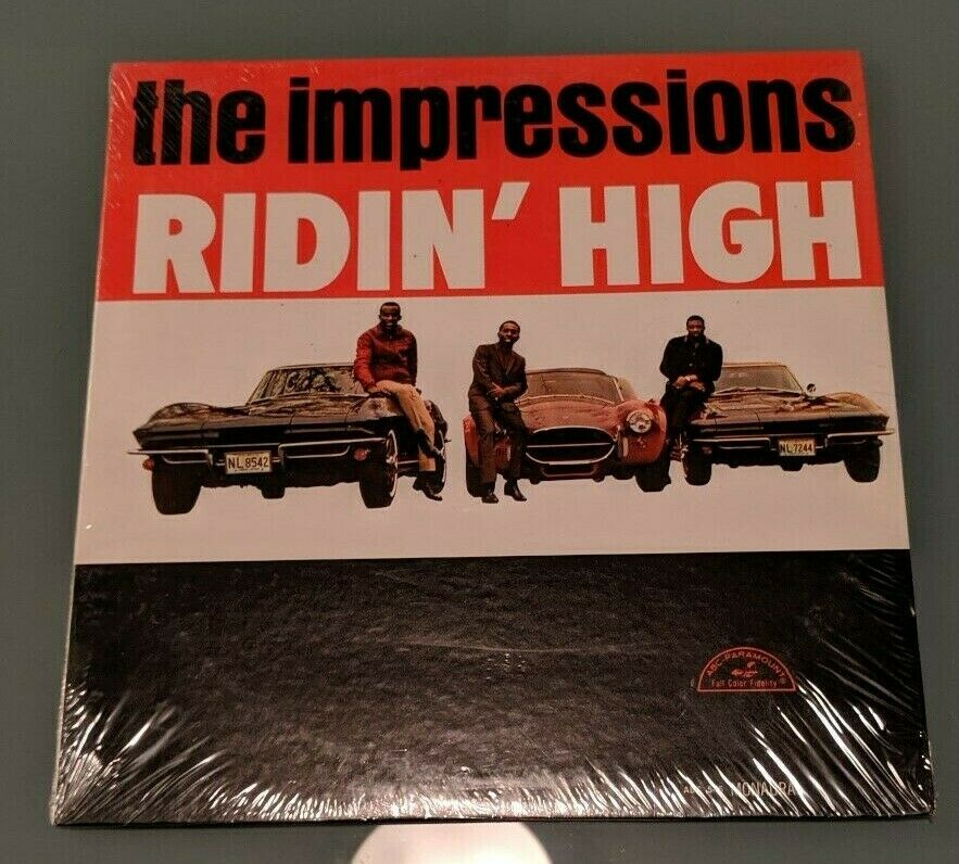 The Impressions Ridin' High NEVER OPENED  ABC-Paramount LP ABC- SOUL WLP MONO