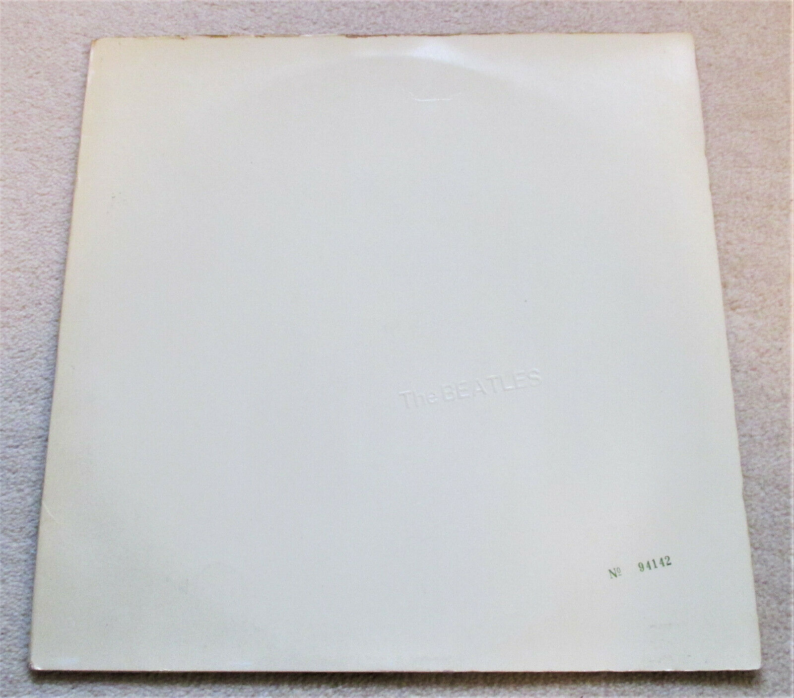THE BEATLES / WHITE ALBUM GATEFOLD LP / NO 94142 / OZ APPLE STEREO / POSTER INCL