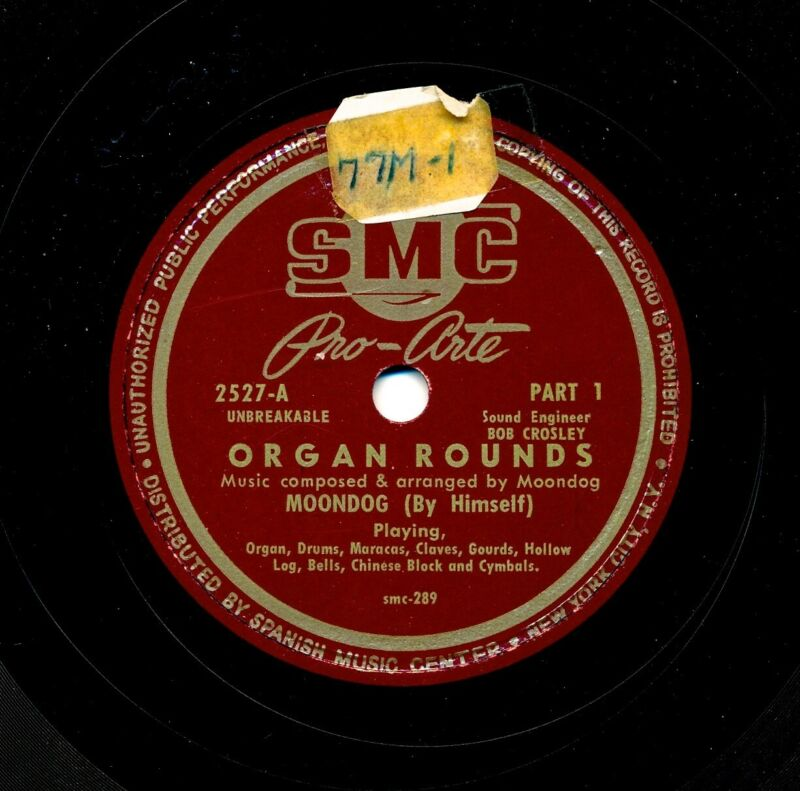 MOONDOG (By Himself) on Ultra RARE 1950 SMC 2527 - Organ Rounds, Parts 1 and 2