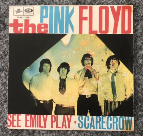 Pink floyd 45 7' See Emily Play Scarecrow Italy Columbia emi scmq7066