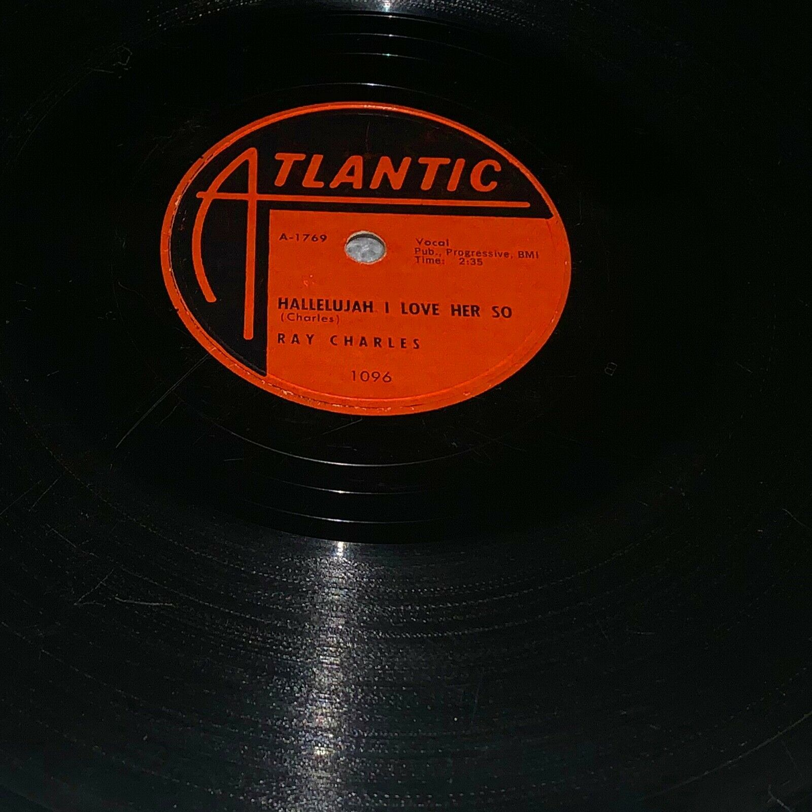 """Ray Charles Hallelujah I Love Her So  / What Would I Do. Rare 78rpm 10"""" Single"""