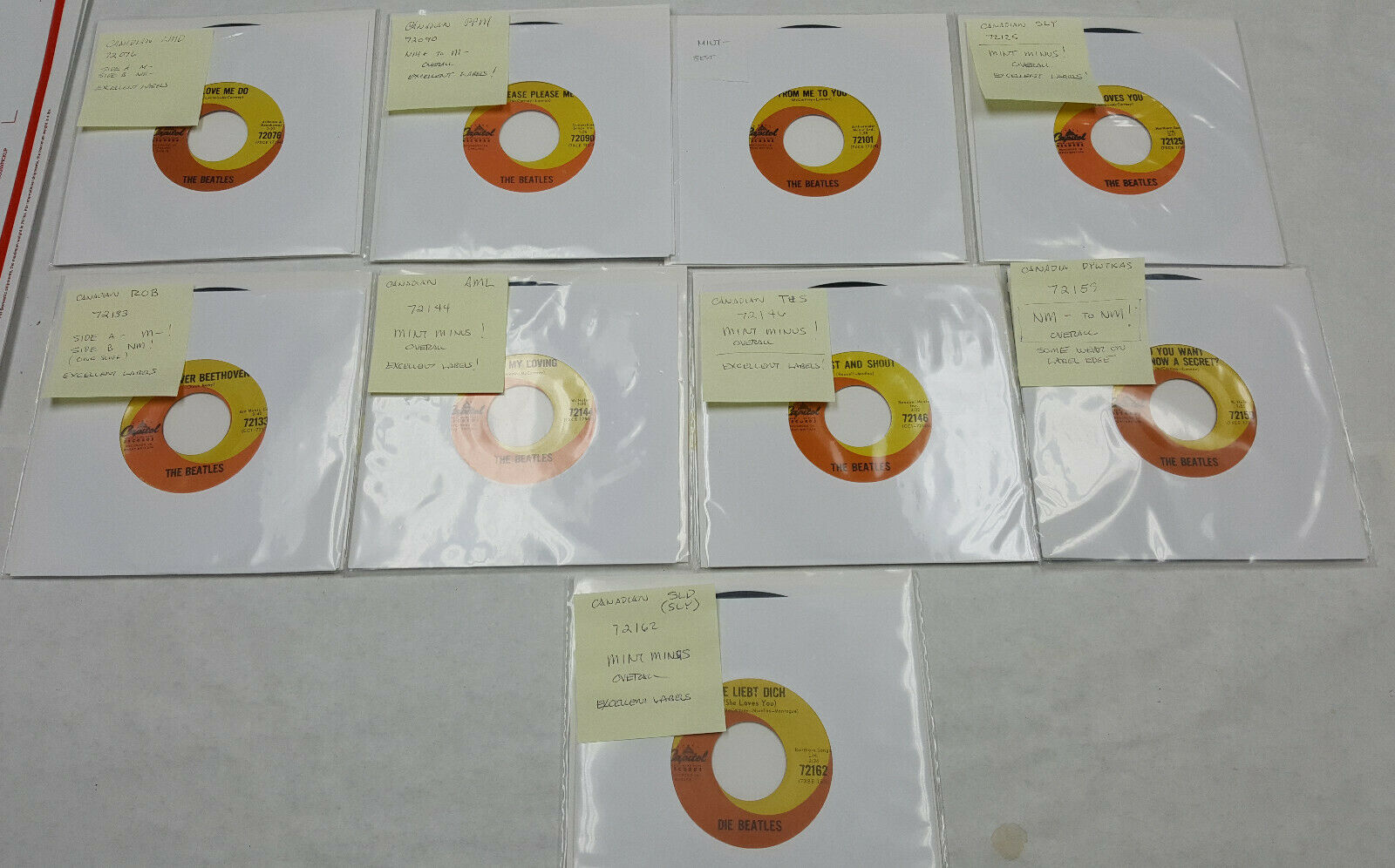 The Beatles - Canadian Capitol Early Singles Collection - NM to M- conditions