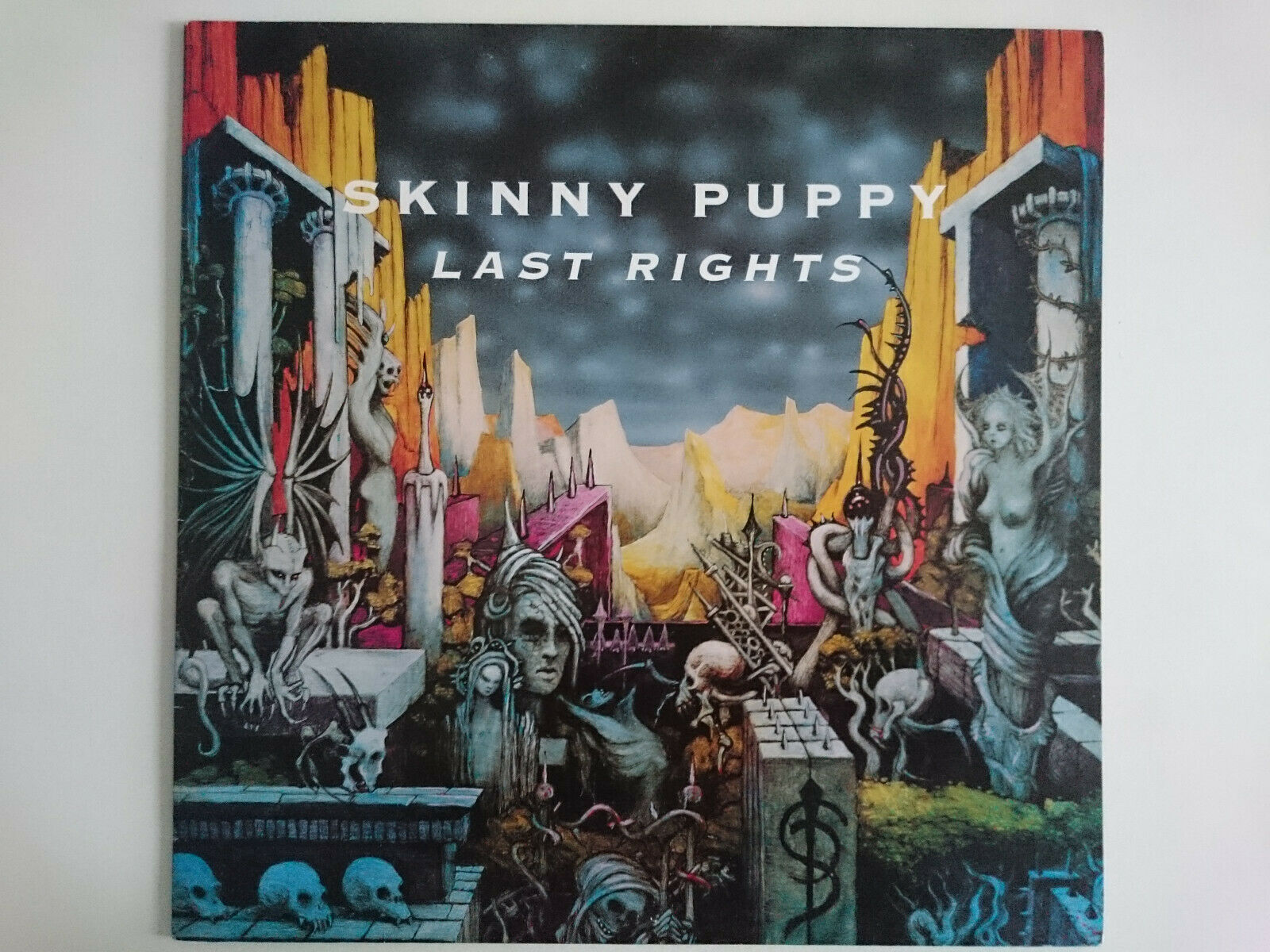 SKINNY PUPPY POISON LAST RIGHTS CAPITOL 064-7 98037 1 EBM INDUSTRIAL