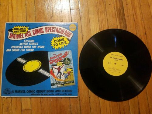 THE AMAZING SPIDERMAN Marvel Age Comic Spectacular GOLDEN RECORDS 1966 as is