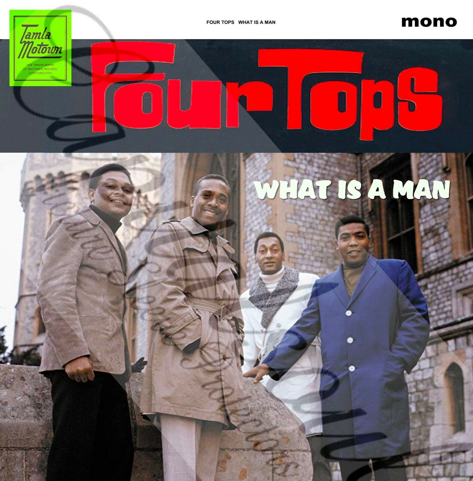 60S SOUL POP TAMLA MOTOWN FOUR TOPS WHAT IS A MAN PICTURE SLEEVE