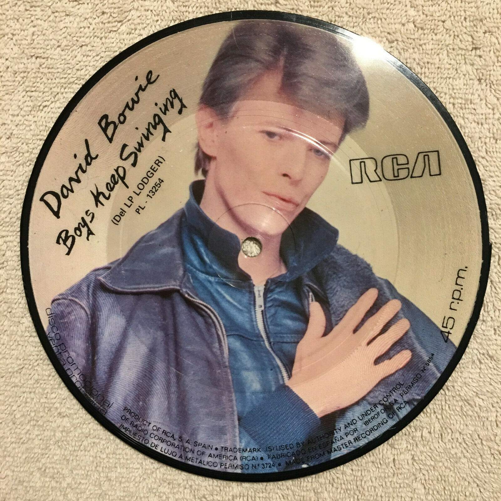 DAVID BOWIE - Boys Keep Swinging - Spain picture disc - NM/NM