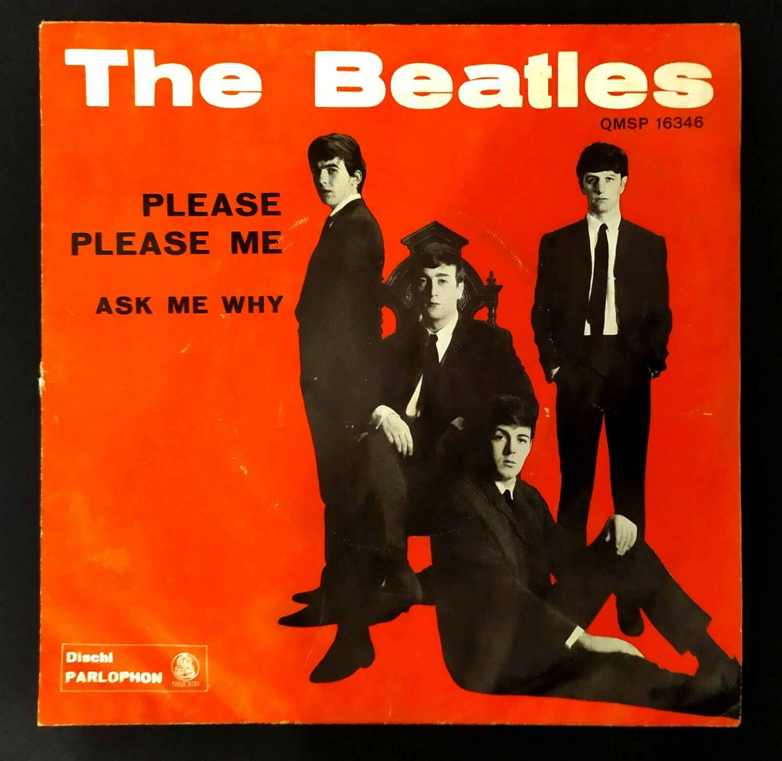 THE BEATLES (45 RPM - ITALY) QMSP 16346 - PLEASE PLEASE ME  (VERY FIRST EDITION)